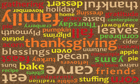 WORDS OF THANKSGIVING RUG