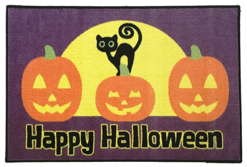 HALLOWEEN DECORATIONS RUG SCARDY CAT