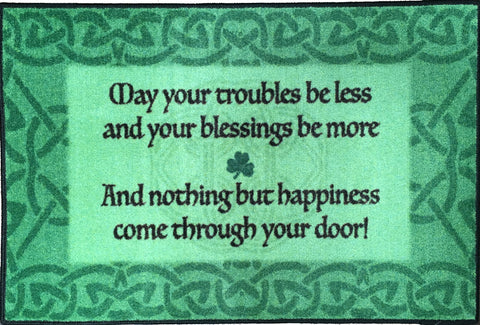 IRISH BLESSING RUG GREEN