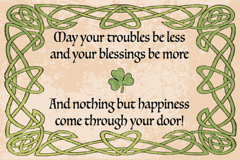 IRISH BLESSING RUG LIGHT