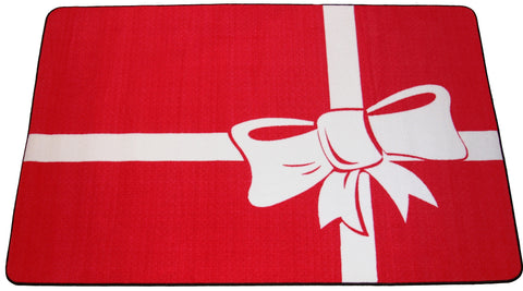 PRESENT HOLIDAY RUG - RED