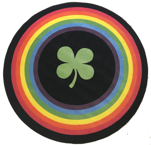 RAINBOW SAINT PATRICKS DAY RUG