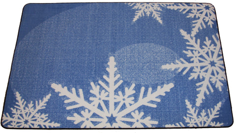 GRAPHIC SNOWFLAKES RUG - FROST BLUE