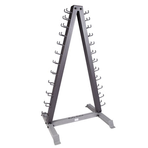 Body-Solid Tools 12 Pair Vertical Dumbbell Rack GDR24