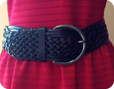 Wide Braided Belt