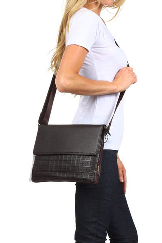 Faux Leather Brief Bag