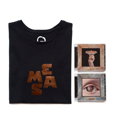 Unisex T-Shirt and 2x CD Duo Pack — MESA Bronze Heart (Charity Edition)