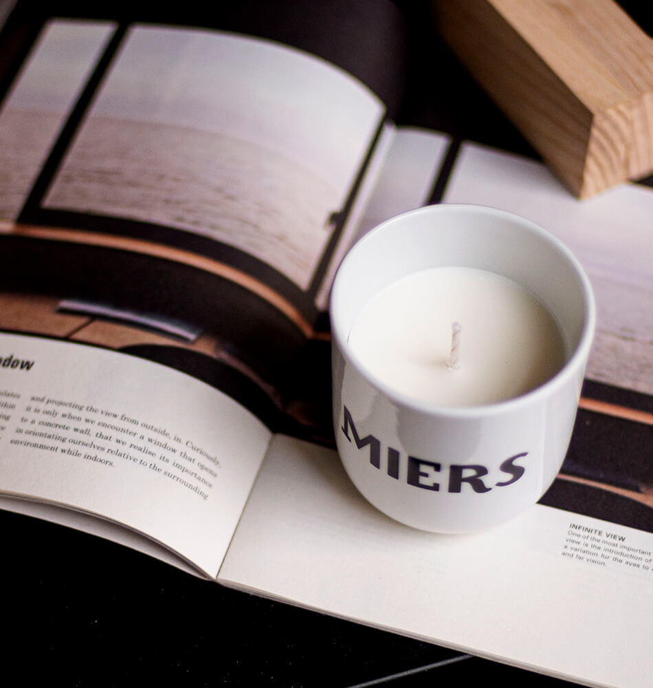 "Scented Soy Wax Candle — ""Miera Svece"""