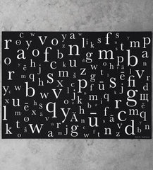 baskerville typeface gift wrapping paper