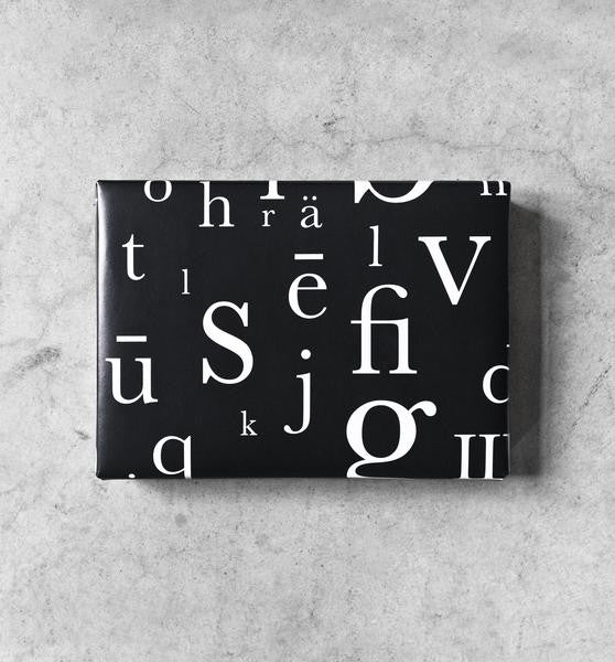 baskerville letter gift wrapping paper