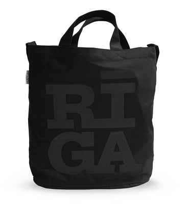 [NEW] Tote Bag — Riga Original® (Monochrome Black)