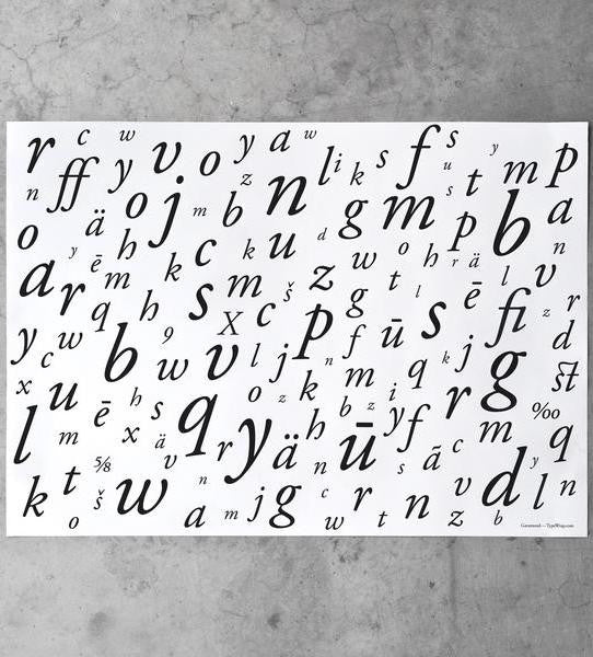letter gift wrapping paper