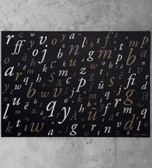 Garamond typeface wrapping paper