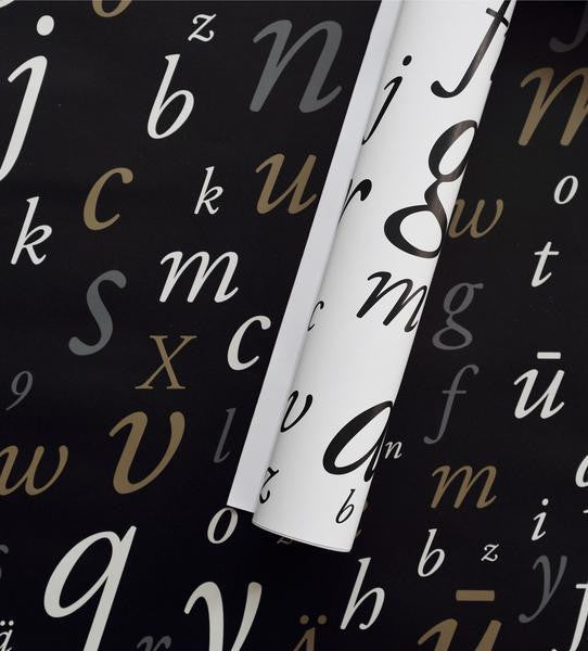 Garamond typeface gift wrapping paper