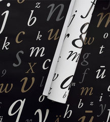 "Wrapping paper —  ""Garamond"" (5 sheets)"