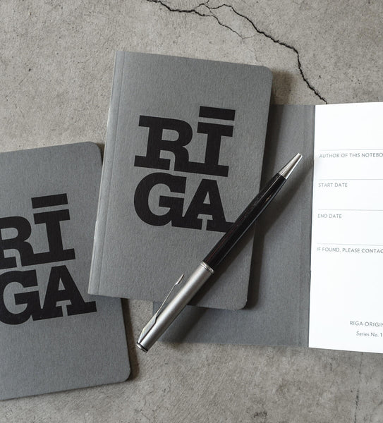 Notebook — Riga Original® (Grey, 3-pack)