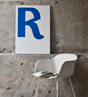 Cirulis Display Letter R and Muto chair