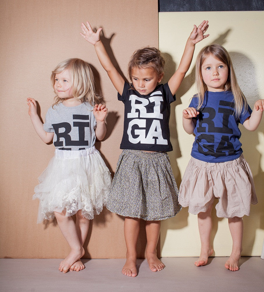Kids T-shirts — Riga Original® (Navy)