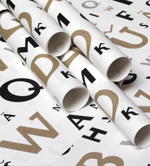 Cirulis display typeface gift wrapping paper