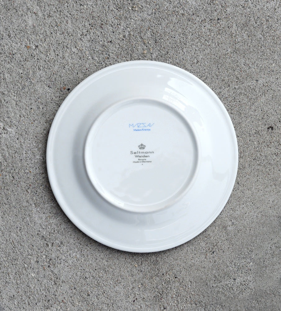 "Porcelain Plate — ""Dinner With Cirulis"" (Blue)"