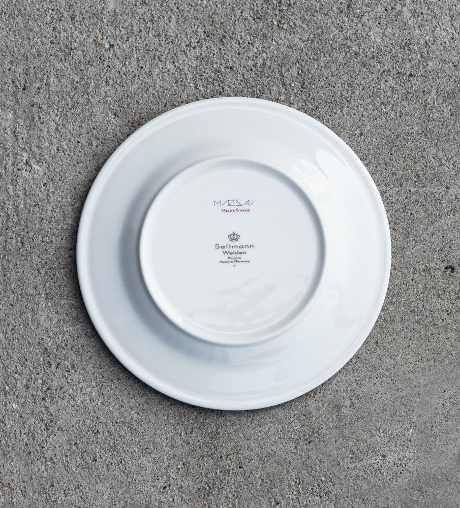 "Porcelain Plate — ""Dinner With Cirulis"" (Red)"