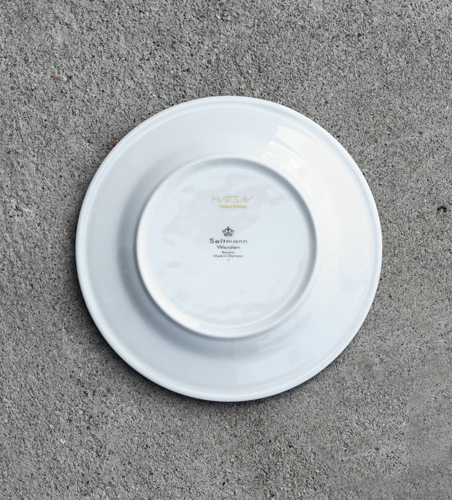 "Porcelain Plate — ""Dinner With Cirulis"" (Yellow)"