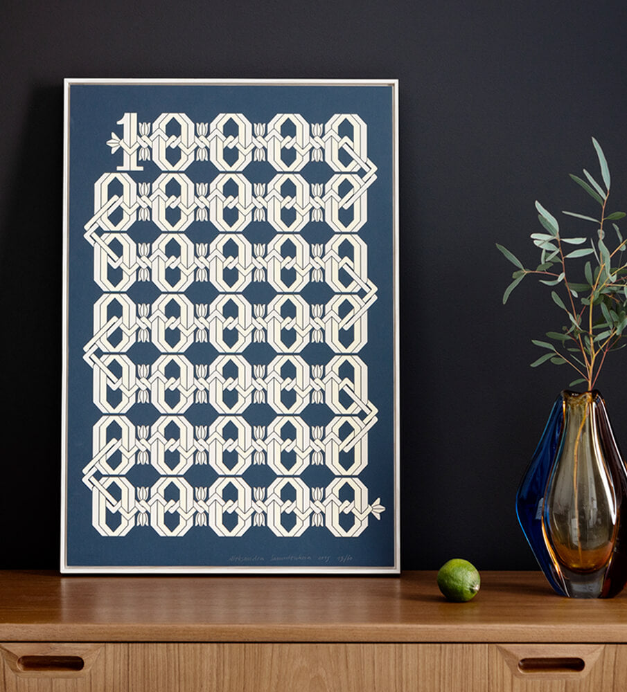"Graphic Print — ""Millions of Cirulis"""