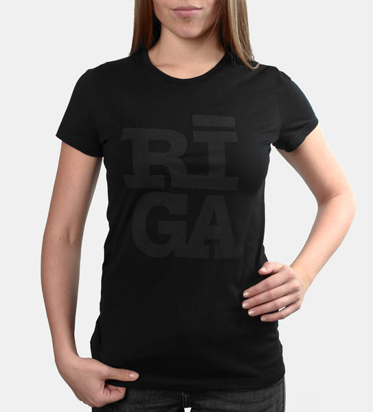 Ladies T-shirt — RĪGA Original® (Monochrome Black)