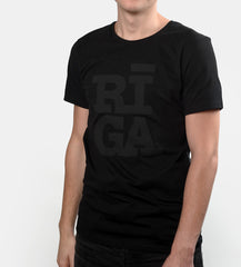 Riga t-shirt black on black