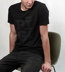 Rīga t shirt black on black