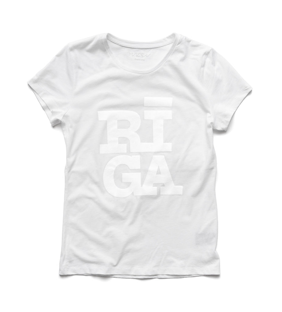 Ladies T-shirt — RIGA Original® (Monochrome White)