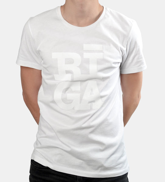 Unisex T-shirt — RĪGA Original® (Monochrome White)