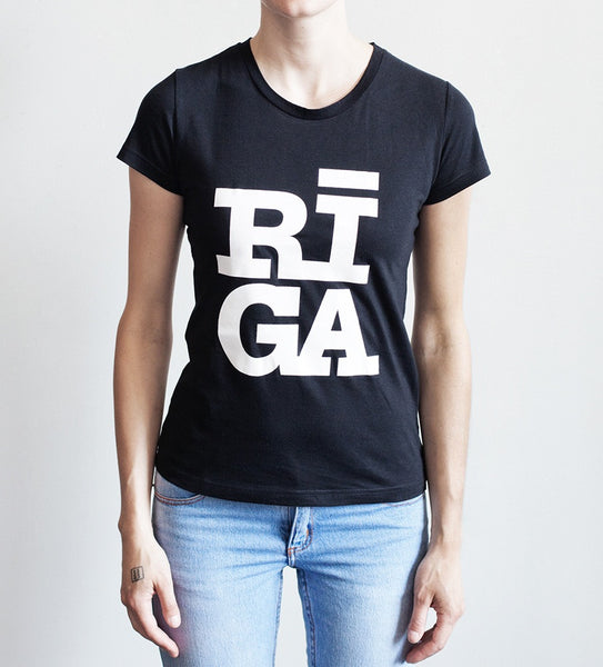 Riga logo black women T shirt