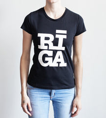 Ladies  T-shirt — RĪGA Original® (Black)