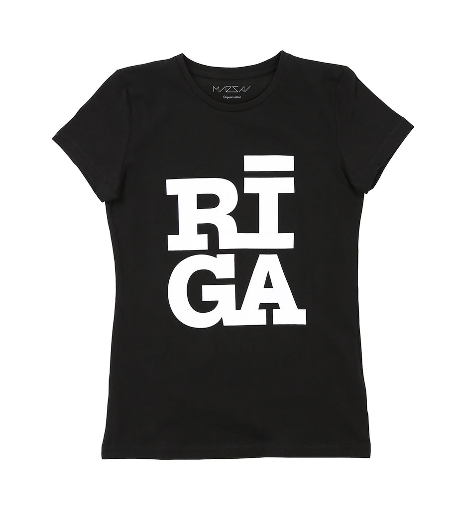 Ladies  T-shirt — Riga Original® (Black)