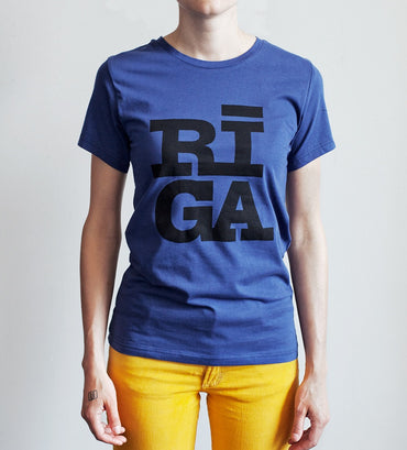 Riga logo t-shirt navy women