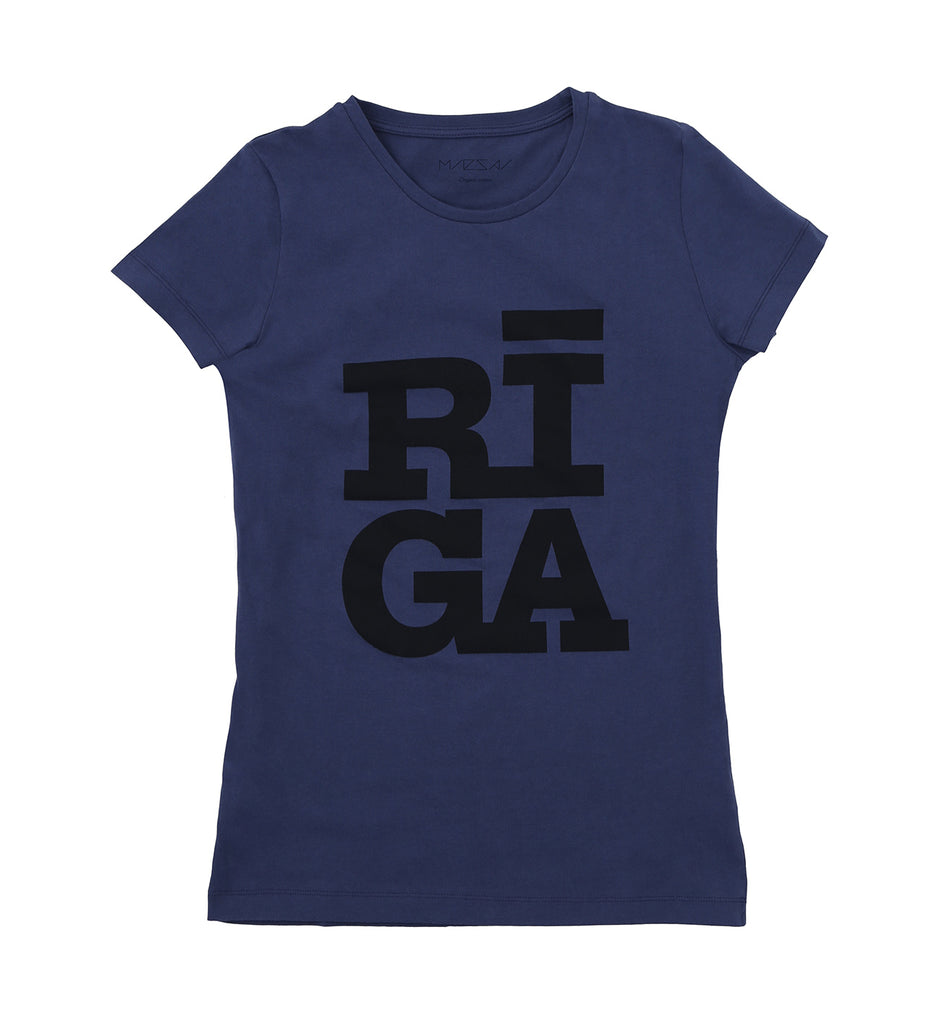 Ladies T-shirt — Riga Original® (Navy)