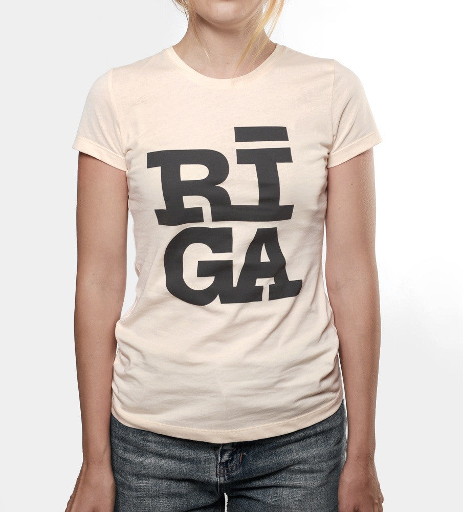 Ladies T-shirt — RIGA Original® (Cream Pearl)