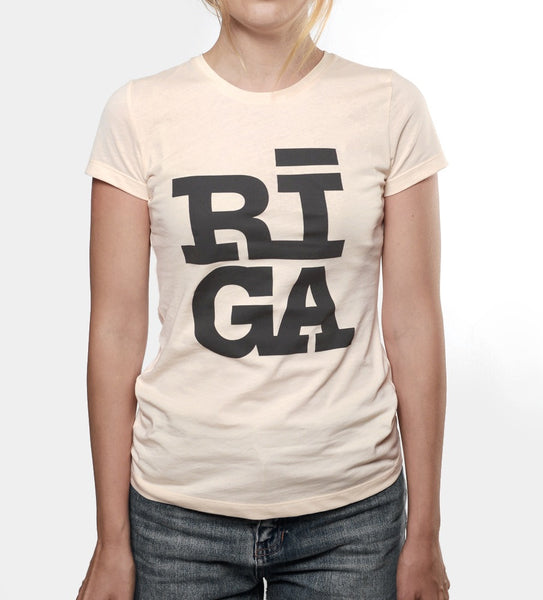 Ladies T-shirt — RĪGA Original® (Cream Pearl, 100% Organic)