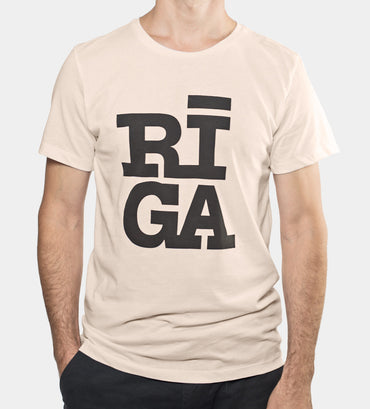 Riga logo t shirt organic cotton