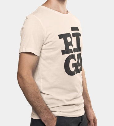 Riga logo t shirt organic cotton side