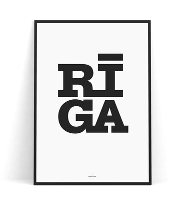Graphic Print — Riga Original® (White/Black)