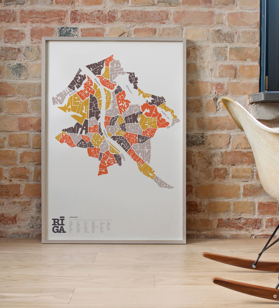 "Graphic Print — ""RĪGA Map"" #2 (Limited)"