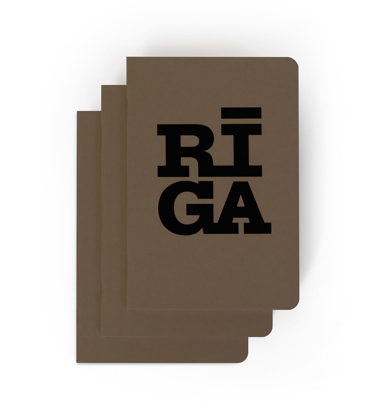 Notebook — Riga Original® (Mokka, 3-pack)