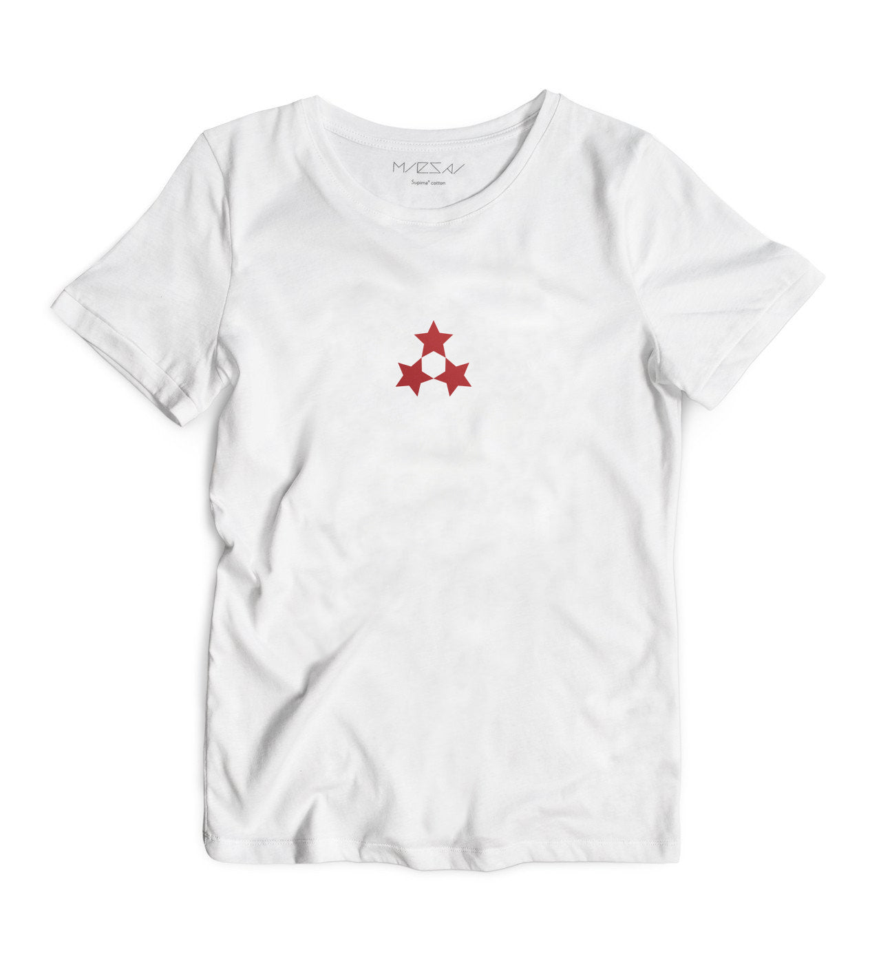 The three unified stars are the national symbol of Latvia. From the Olympic team to the national coat of arms, to every by-passer of the Freedom Monument, it expresses the value of free will.   The 3 Stars T-shirt celebrates freedom in an elegant yet subtle way.