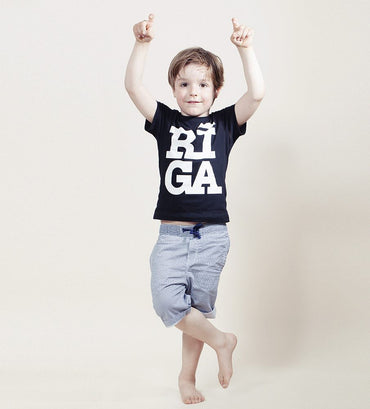 Kids T-shirt — RIGA Original® (Black)