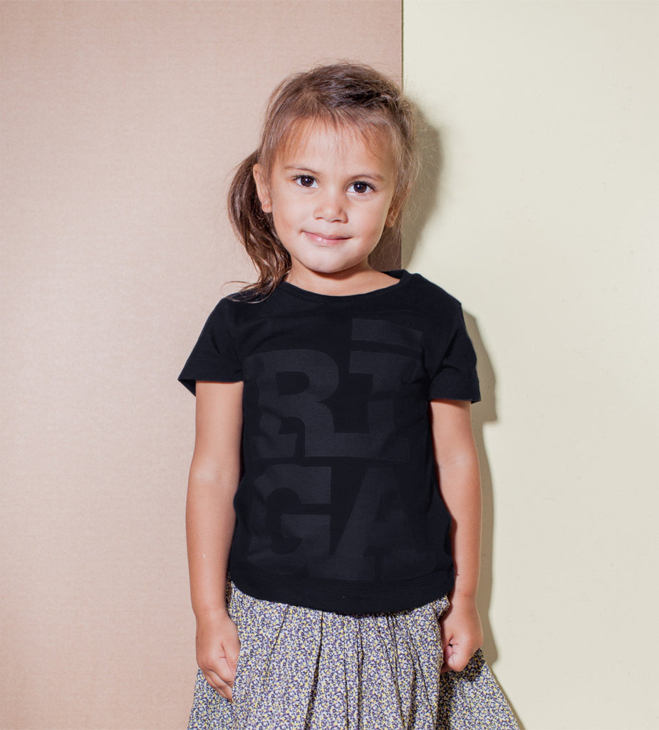 Kids T-shirt — RĪGA Original® (Monochrome Black)