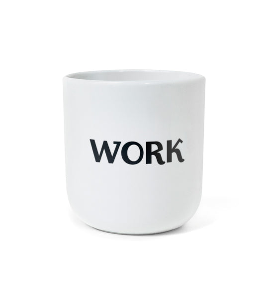"NEW: Iconic Design Mug – ""WORK / REST"""