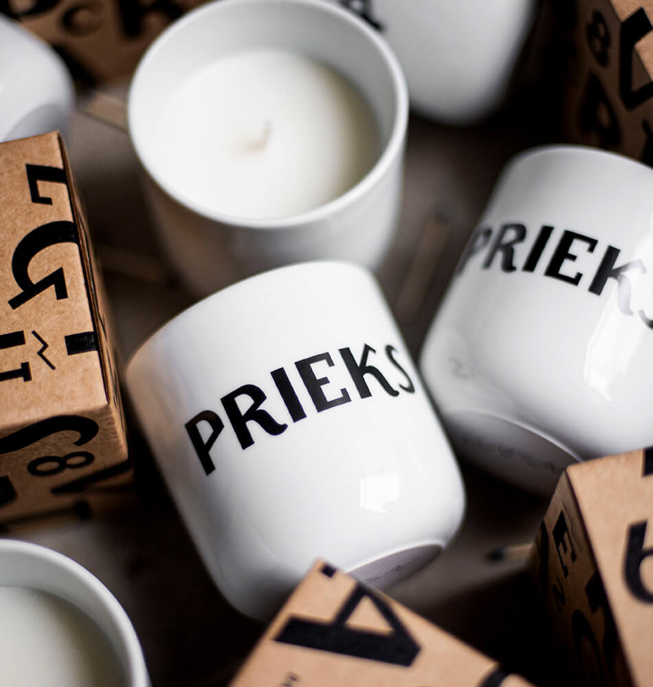 "Scented Soy Wax Candle — ""Prieka Svece"""