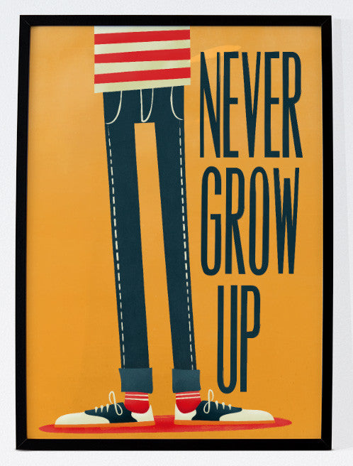 Never Grow Up - Lámina